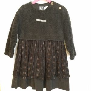 Jean Bourget black fleece French dress